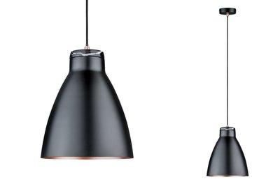 Neordic Roald hanglamp max. 1x20W E27 zwart m/koper m 230V metaal/marmer