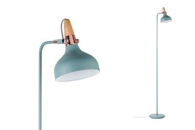 Neordic Juna staande lamp max. 1x20W E14 Softgroen/koper/hout 230V metaal/hout