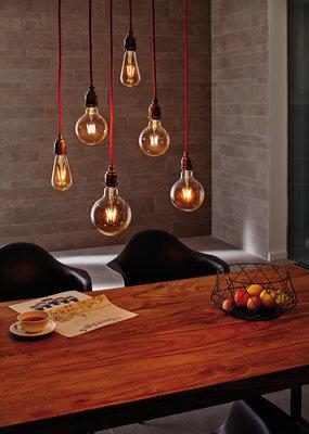 LED schakelbordlamp 95 5W E27 230V kroonspiegel zilver 2700K