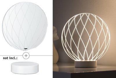 3D-glas Mesh helder voor 3D Basic-lampen