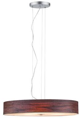 Neordic Liska hanglamp max. 3x20W E27 hout donker/chroom mat 230V ht/metl