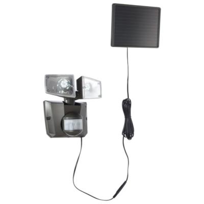 Solar wandlamp grijs met 2 spots