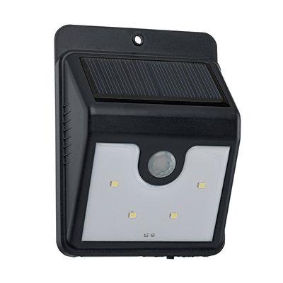 SOLAR-LED Wandlamp zwart.