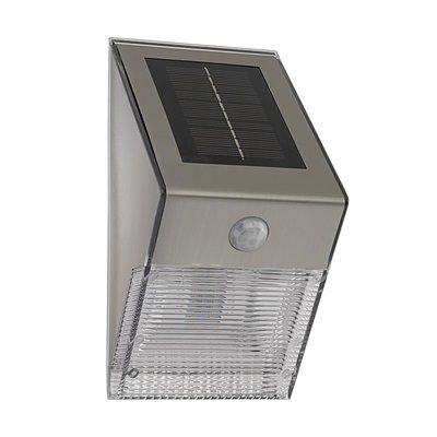 SOLAR-LED WANDLAMP M SENSOR RVS/HELDER