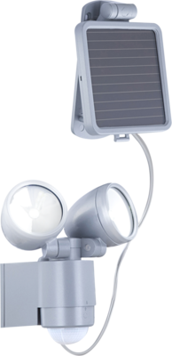 Solar wandlamp met 2 spots