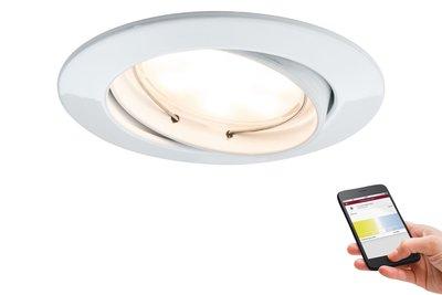 Prem EBL SmartCoin BLE tunw zwb LED 1x4,5W 2700 K-6500K 230V 51mm wt mat/alu zn