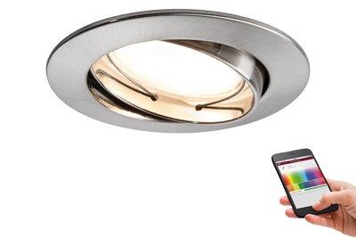Premium EBL SmartCoin BLE RGB zwb LED 1x2,4W 2700K 230V 51mm ijzer geb alu zink