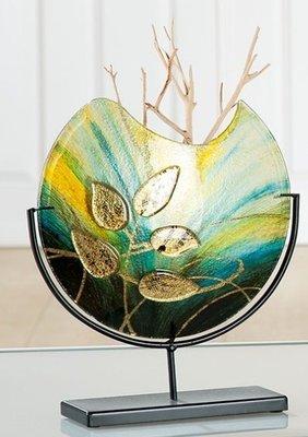 Glazen vaas gold klein Voorverkoop