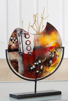 Glazen vaas Amber klein