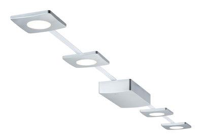 PadLED EcoPad basisset Square 5 m 4 x 2,2 W Chroom mat