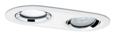 Premium IBL set Name IP65 ovaal zwb LED 1x2x7W 36° 230 V GU10 51 mm wit/chroom