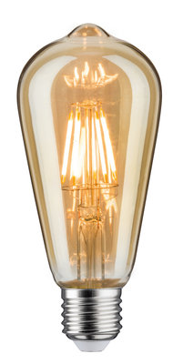 LED Vintage Rustika 6W E27 230V goud Dimbaar 1700K
