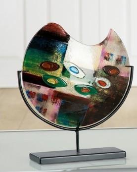 Glazen vaas kunstwerk