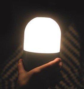 Tafellamp/Nachtlamp Bean SMOOZ wit