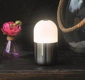 Tafellamp/Nachtlamp Bean SMOOZ Geborsteld metaal