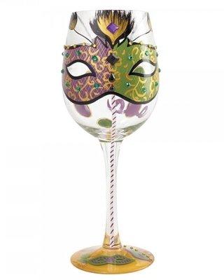 Wijnglas Hand geschilderd Mistiek