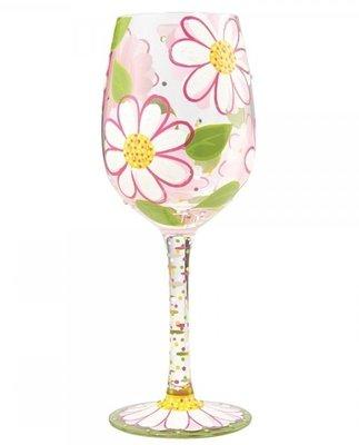 Wijnglas Hand geschilderd MAdeLIEF