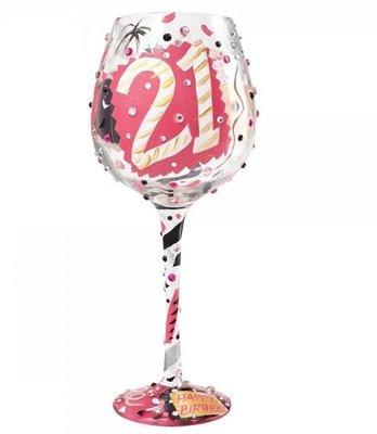 Wijnglas Bling XL 21 jaar