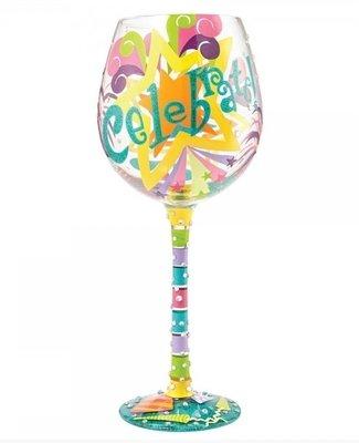 Wijnglas Bling XL feestje