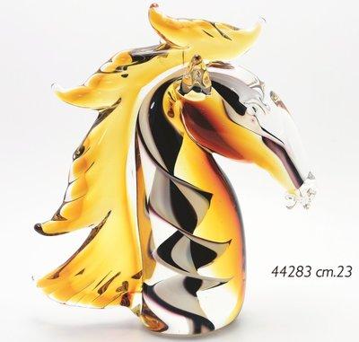 Glas sculptuur Paard