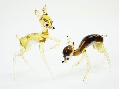 Beeldjes glas Bambi set
