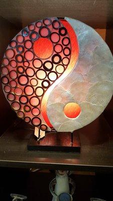 Ying yang lamp rood ringen