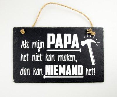 Leistenen tekstbord papa