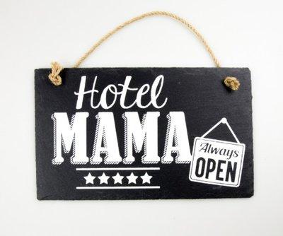 Leistenen tekstbord hotel mama