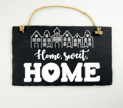 Leistenen tekstbord home sweet