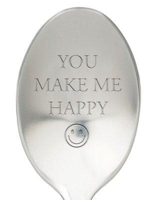 Lepel met tekst you make me happy