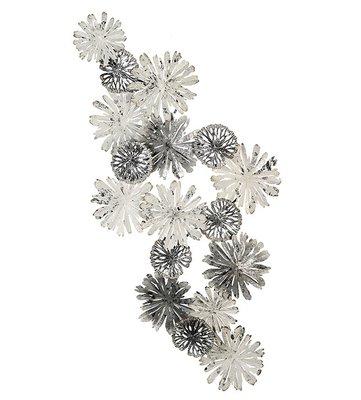 Muurdecoratie metaal Flowertime blank