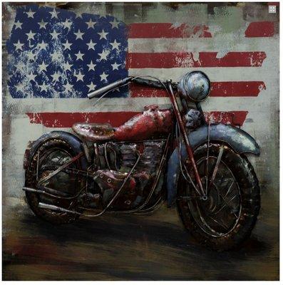 Metalen schilderij american