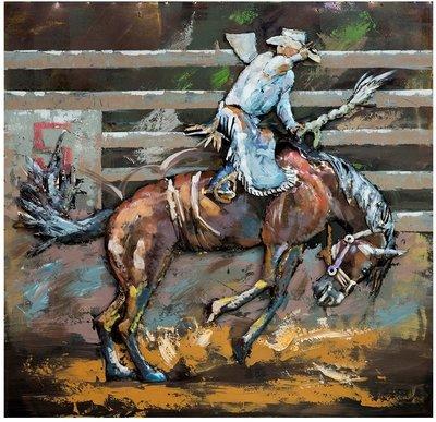 Metalen schilderij Rodeo