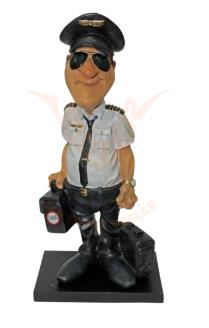 Beeldje Piloot met zonnebril
