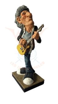 Beeldje Rockster met Elektrische gitaar