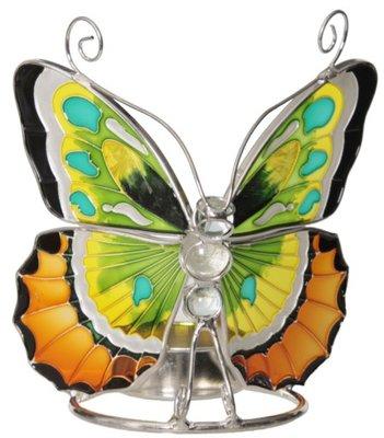 Waxinelichthouder vlinder Glas morgenstond
