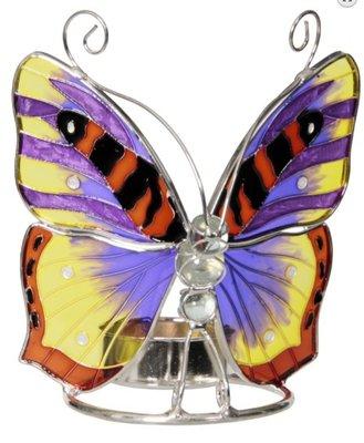 Waxinelichthouder vlinder Glas middag zon