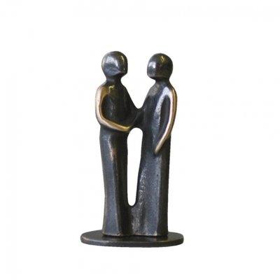 Bedankt bronzen sculptuur