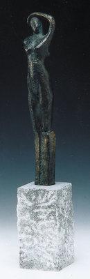 Aanmoediging bronzen beeld