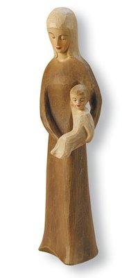 Beeldje madonna met kind kunsthars