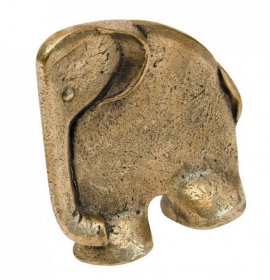 Boekensteun olifant brons