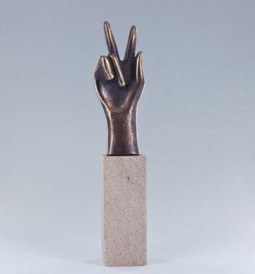 Behaald bronzen beeldje