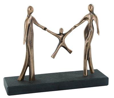 Bronzen beeld Familie geluk