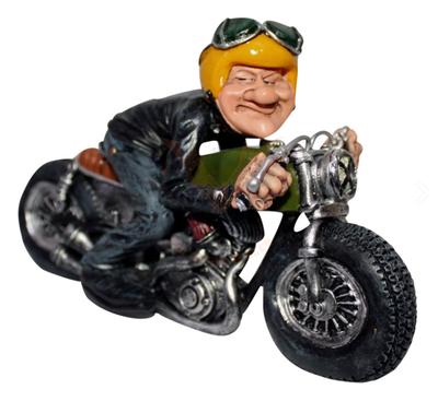 Beeldje motorrijder man
