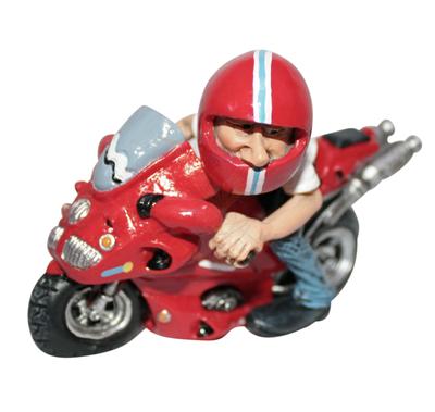 Beeldje race motor