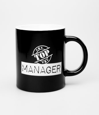Tekstmok zwart-wit top manager