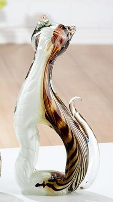 Glas beeldje Poesjes 27 cm