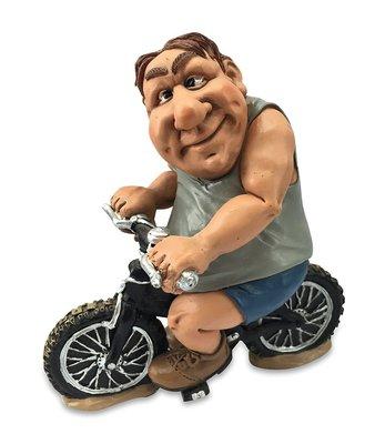 Beeldje Over size fietser