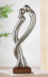 Metalen sculptuur Verdraaid jij bent lief beeld