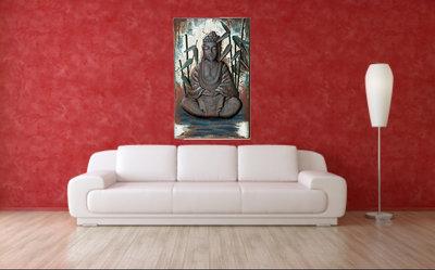 Wanddecoratie Met Licht : Wanddecoratie metaal d boeddha aquilliss